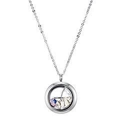 Mood - Floating crystal charm locket