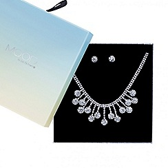 Mood - Diamante crystal circle necklace with matching earring