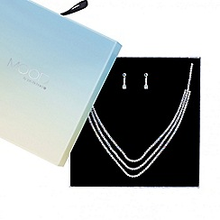 Mood - Aurora borelis diamante waterfall necklace with matching earring