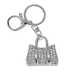 Mood - Silver crystal handbag charm keyring