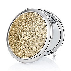 Mood - Gold glitter dome compact mirror