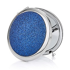 Mood - Blue glitter dome compact mirror