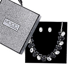 Mood - Crystal multi shape allway necklace and earring set