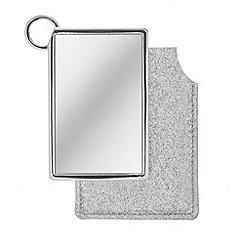 Mood - Mirror in silver glitter pouch