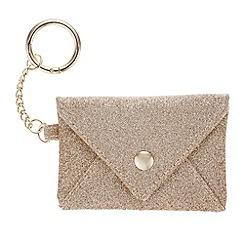 Mood - Gold glitter coin purse keyring