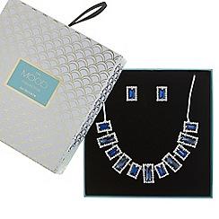 Mood - Blue crystal fan jewellery set