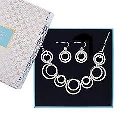 Mood - Silver pave circles jewellery set