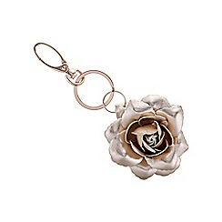 Mood - Rose gold open flower keyring
