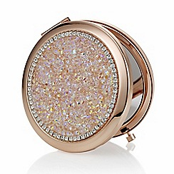 Mood - Rose gold crushed crystal compact