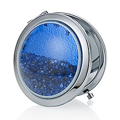 Mood - Blue crystal shaker compact mirror