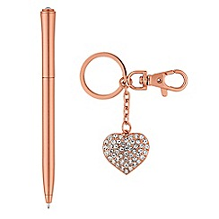 Mood - Rose gold pen and keyring set