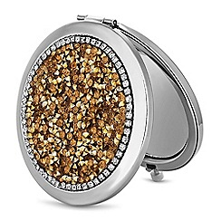 Mood - Gold crystal cluster compact mirror