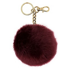 Mood - Red pom pom keyring