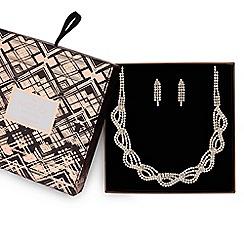 Mood - Gold diamante twist jewellery set