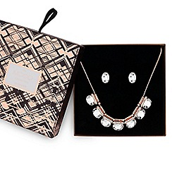 Mood - Rose gold crystal allway jewellery set