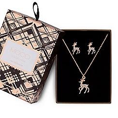 Mood - Crystal reindeer jewellery set in a gift box
