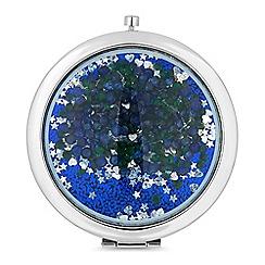 Mood - Blue crystal shaker compact mirror