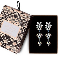 Mood - Aurora borealis crystal floral earrings in a gift box
