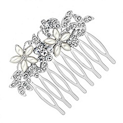 Mood - Pearl and crystal floral hair comb