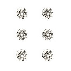 Mood - Set of six pearl flower hair twistees