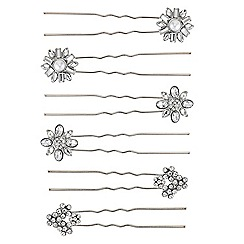 Mood - Set of three floral cluster hair pins