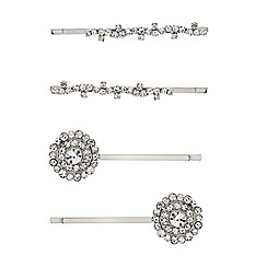Mood - Set of four diamante patterned hair slides