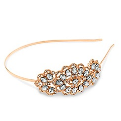 Mood - Crystal embellished gold headband