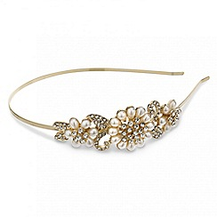 Mood - Crystal and pearl flower side headband