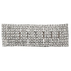 Mood - Diamante crystal rectangular hair barrette