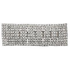 Mood - Diamante crystal rectangular hair barrette