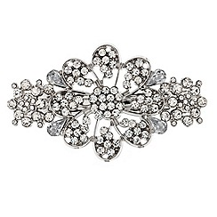 Mood - Crystal embellished floral hair barrette