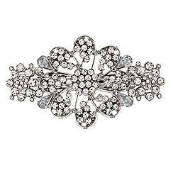 Mood - Crystal embellished floral hair barrette