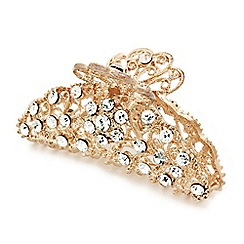 Mood - Rose gold crystal filigree hair clamp