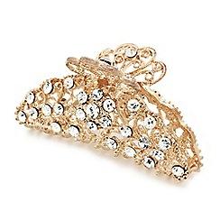 Mood - Rose gold crystal filigree hair clamp
