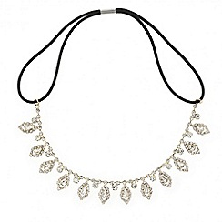 Mood - Diamante crystal navette droplet hair chain
