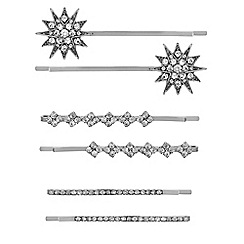 Mood - Set of six embellished star hair slides