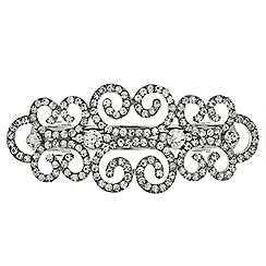 Mood - Crystal embellished swirl hair barrette
