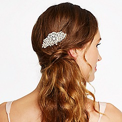 Mood - Online exclusive silver oval crystal embellished hair comb