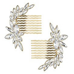 Mood - Crystal crescent shape hair combs