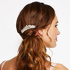 Mood - Gold diamante crystal floral comb