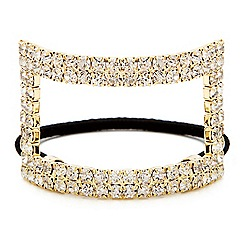 Mood - Crystal embellished rectangular hair band