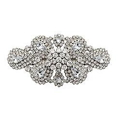 Mood - Silver teardrop encased crystal barrette