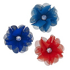 Mood - Three pack floral crystal hair clip