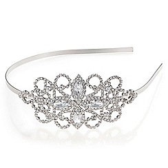 Mood - Pearl and crystal open leaf headband