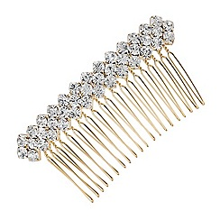 Mood - Large crystal cluster hair comb