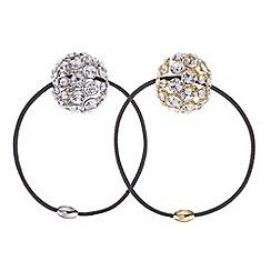 Mood - Set of two crystal ball hair ties