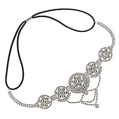 Mood - Gold crystal circle droplet headband