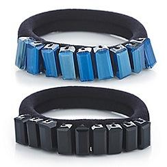 Mood - Crystal embellished hair tie set