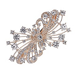 Mood - Rose gold crystal spray hair clip
