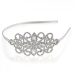 Mood - Silver diamante loop navette headband